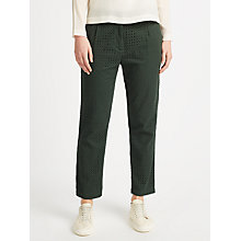 Buy Samsoe & Samsoe Stamford Cropped Trousers, Darkest Spruce Online at johnlewis.com