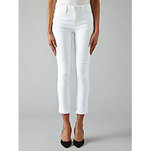 Buy Paige Hoxton Crop Rollup Skinny Jeans, Optic White Online at johnlewis.com