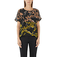 Buy Marc Cain Printed Silk-Blend Blouse, Multi Online at johnlewis.com