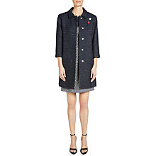 Buy Oui Tweed-Like Coat, Dark Blue Online at johnlewis.com