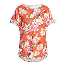 Buy Oui Floral Print Lace T-Shirt, Red Rose Online at johnlewis.com