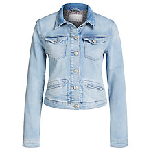 Buy Oui Denim Jacket, Light Blue Denim Online at johnlewis.com