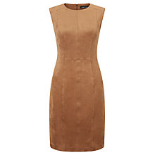 Buy Marc Cain Sleeveless Suedette Dress, Brown Online at johnlewis.com