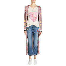 Buy Oui Space Dyed Cardigan, Pink/Blue Online at johnlewis.com