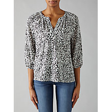 Buy Joie Addie B Silk Blouse, Porcelain Online at johnlewis.com