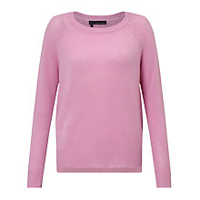 Buy 360 Sweater Jamie Cashmere Jumper, Peony Online at johnlewis.com