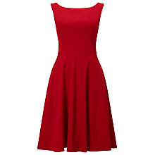 Buy Phase Eight Pascale Grosgrain Dress, Scarlet Online at johnlewis.com