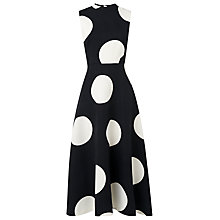 Buy L.K. Bennett Marlin Print Large Polka Dot Dress, Black/Cream Online at johnlewis.com