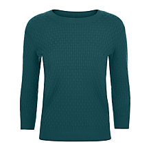 Buy Jaeger Basketweave Crew Neck Jumper Online at johnlewis.com
