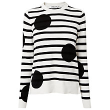 Buy L.K. Bennett Liberty Stripe and Spot Knit Jumper, Black / White Online at johnlewis.com