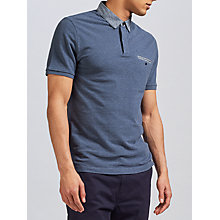 Buy Original Penguin Ditsy Woven Collar Polo Shirt, Dark Denim Online at johnlewis.com
