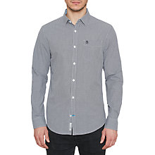 Buy Original Penguin Mini Gingham Long Sleeve Shirt, Dark Sapphire Online at johnlewis.com