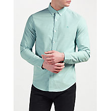 Buy Original Penguin Stretch Long Sleeve Oxford Long Sleeve Shirt, Bright Aqua Online at johnlewis.com