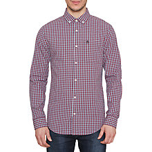 Buy Original Penguin Gingham Long Sleeve Shirt, Dark Sapphire Online at johnlewis.com