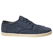 Buy TOMS Paseo Canvas Plimsolls, Blue Online at johnlewis.com