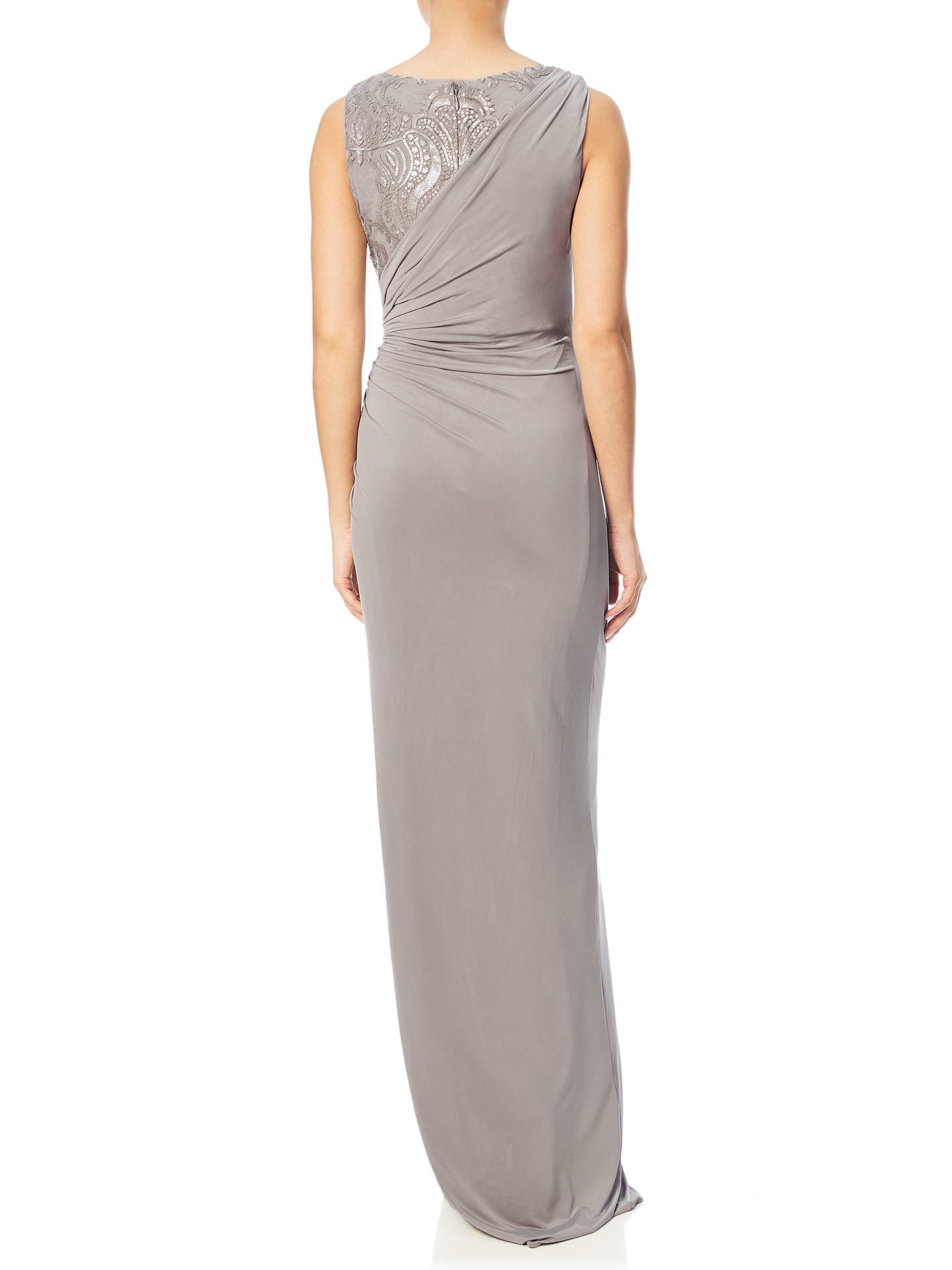 Adrianna Papell Sleeveless Sequin Lace Jersey Gown, Mink at John ...