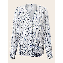 Buy Jigsaw Cornflower Silk Blouse, Ivory Online at johnlewis.com