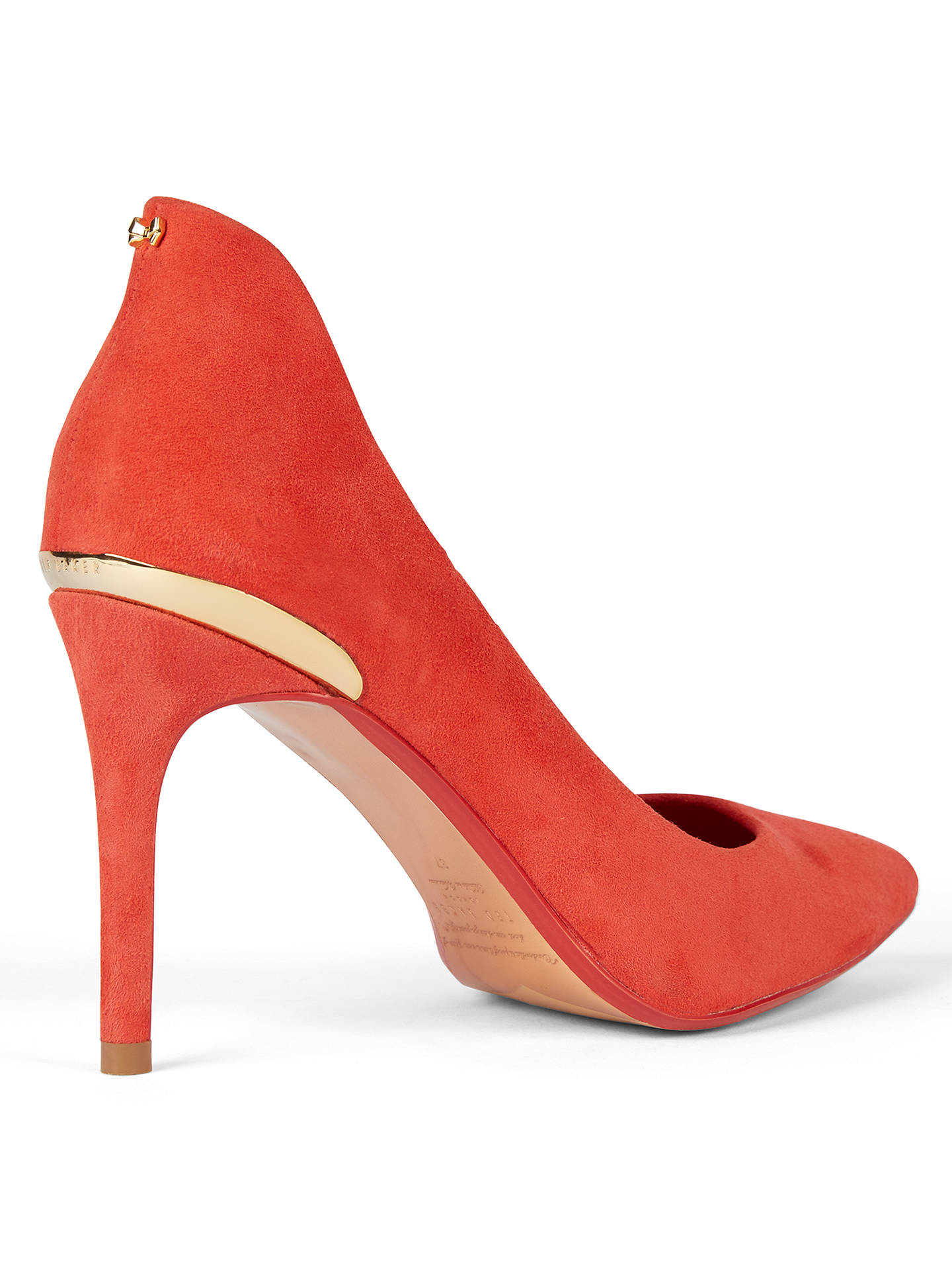 BuyTed Baker Saviy Pointed Toe Court Shoes, Red Suede, 5 Online at johnlewis.com