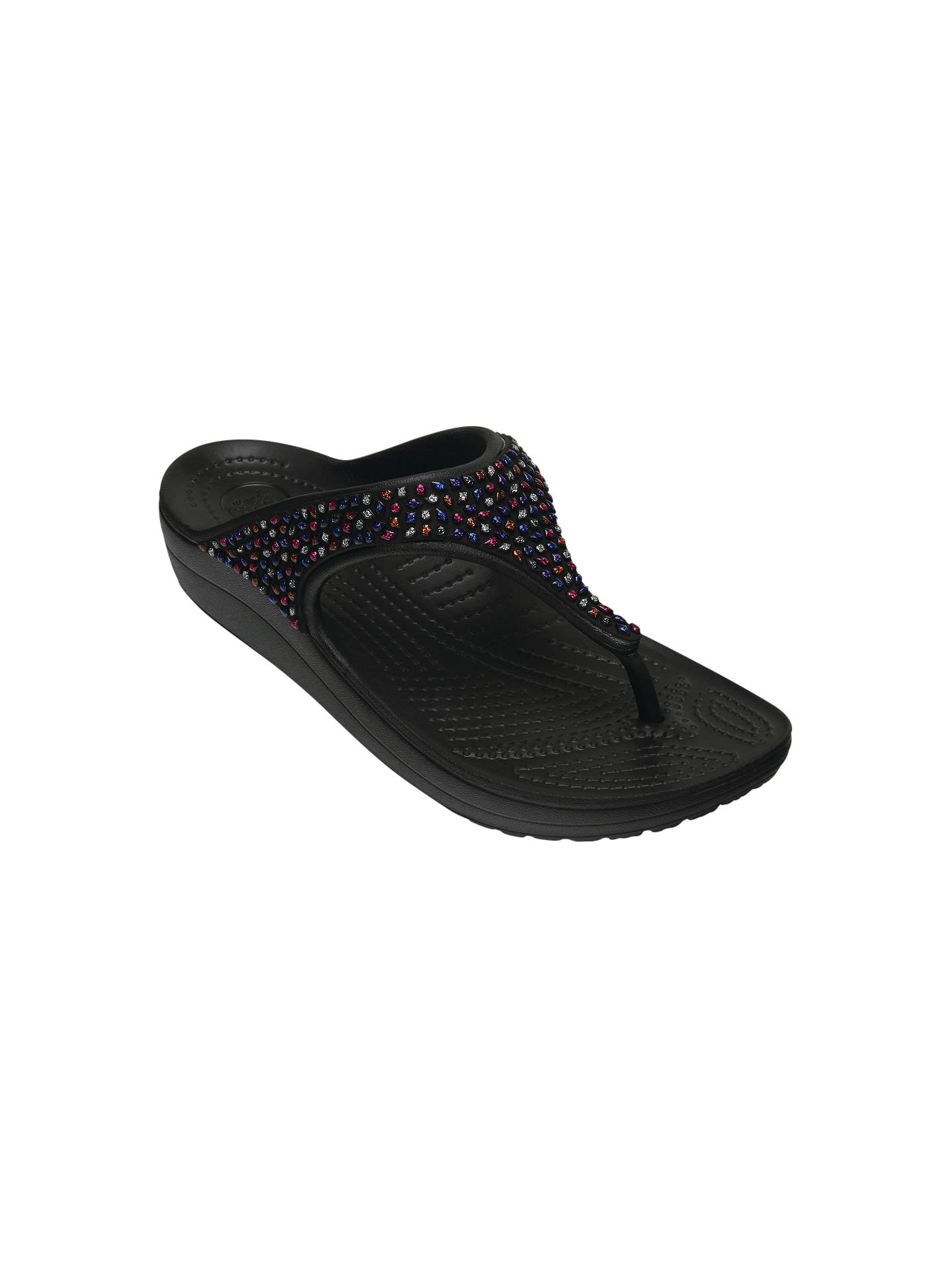cb6d786a21 Crocs Sloane Embellished Flip Flops at John Lewis   Partners