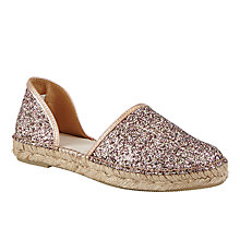 Buy John Lewis Lalia Two Part Espadrilles, Nude Online at johnlewis.com