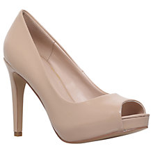 Buy Carvela Lara 2 Occasion Peep Toe Court Shoes, Nude Online at johnlewis.com