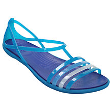 Buy Crocs Isabella T-Bar Sandals, Blue Online at johnlewis.com