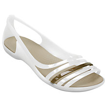 Buy Crocs Isabella Huarache Sandals, Cream Online at johnlewis.com