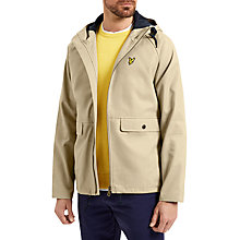 Buy Lyle & Scott Cotton Zip Through Jacket, Stone Online at johnlewis.com