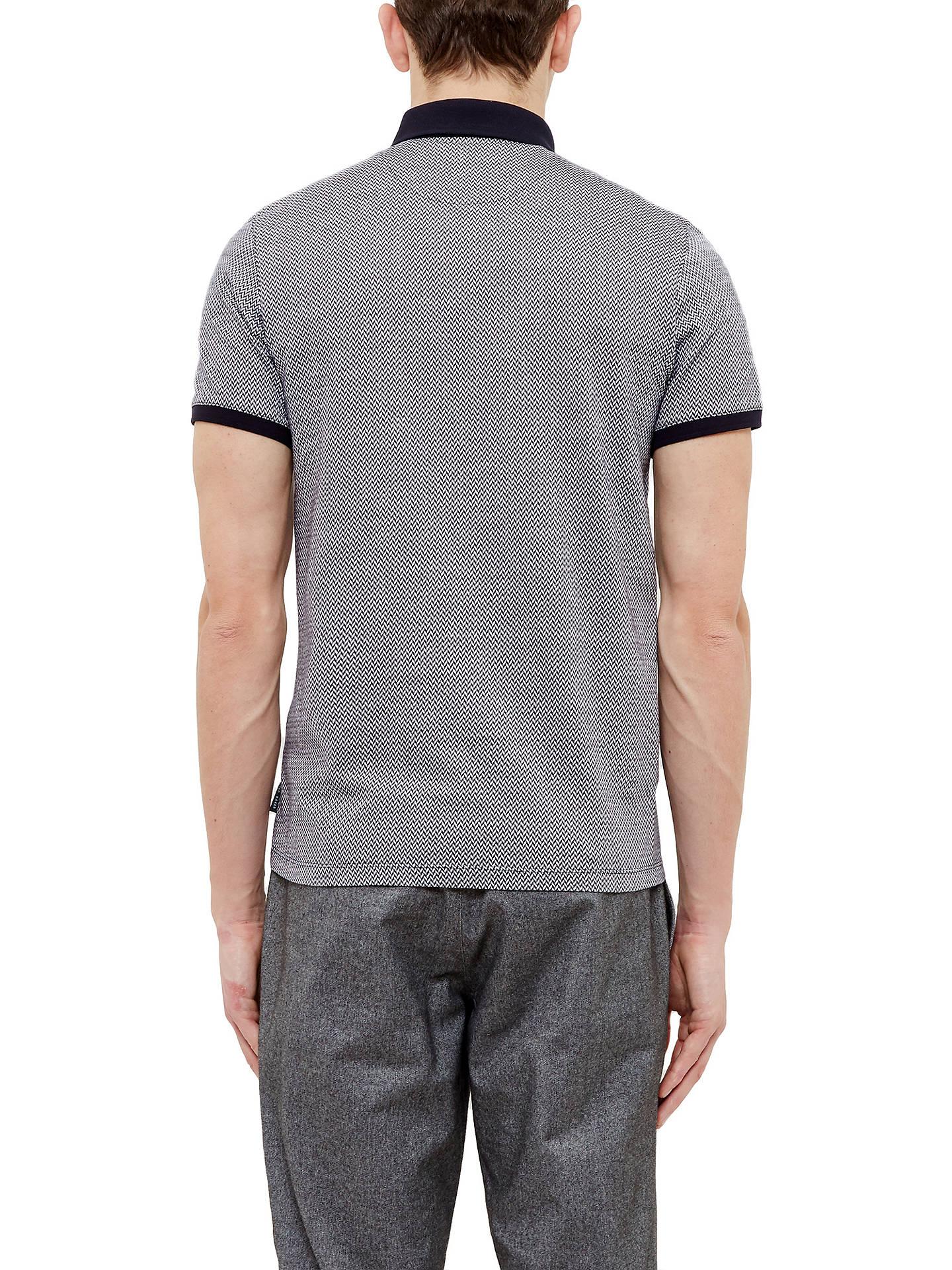 370cbc03e34337 Ted Baker Morrow Jacquard Polo Shirt at John Lewis   Partners
