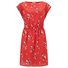 Buy Harris Wilson Ecuyer Floral Print Dress, Sunset Red Online at johnlewis.com