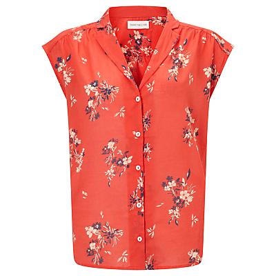 1950s Rockabilly & Pinup Tops, Shirts, Blouses Harris Wilson Ecu Floral Print Shirt Sunset Red £75.00 AT vintagedancer.com