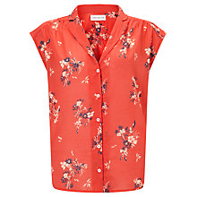 Buy Harris Wilson Ecu Floral Print Shirt, Sunset Red Online at johnlewis.com