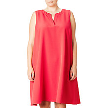 Buy Adrianna Papell Plus Size Split Neck Shift Dress, Strawberry Online at johnlewis.com