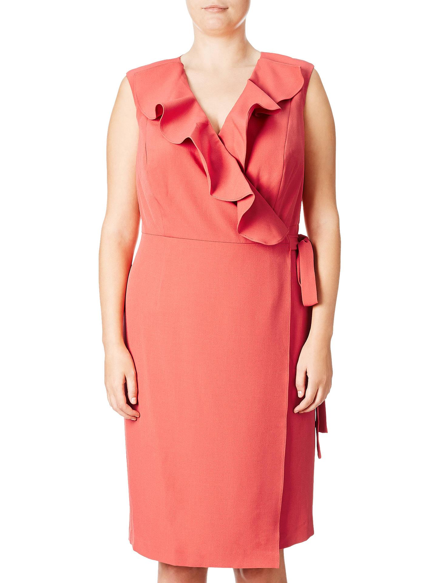 183a8e2891f Adrianna Papell Plus Size Cascading Ruffle Draped Sheath Dress ...