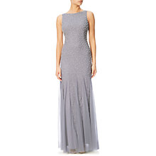 Buy Adrianna Papell Boat Neck Gown, Silver Grey Online at johnlewis.com