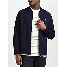 Buy Lyle & Scott Seam Pocket Cotton Bomber Jacket, Navy Online at johnlewis.com