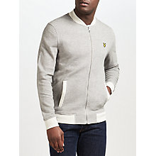 Buy Lyle & Scott Pique Bomber Jacket, Mid Grey Marl Online at johnlewis.com