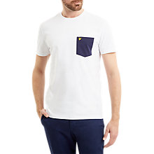 Buy Lyle & Scott Contrast Pocket T-Shirt, White Online at johnlewis.com