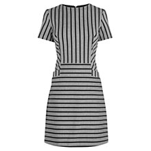 Buy Oasis Cutabout Stripe Dress, Multi Black Online at johnlewis.com