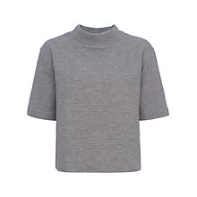 Buy French Connection Marin Ottoman Jersey Top, Light Grey Melange Online at johnlewis.com