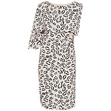 Buy Gina Bacconi Abstract Animal Print Dress, Navy/Beige Online at johnlewis.com