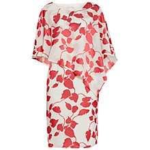 Buy Gina Bacconi Burn Out Dress And Cape, Red/Cream Online at johnlewis.com