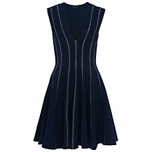 Buy French Connection Modern Kantha Jersey Dress, Utility Blue Online at johnlewis.com