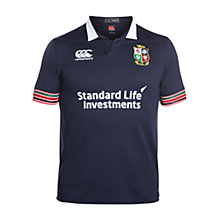 Buy Canterbury of New Zealand British and Irish Lions Short Sleeve Training Rugby Pro Shirt, Blue Online at johnlewis.com