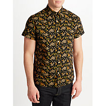 Buy JOHN LEWIS & Co. Kiku Teien Print Short Sleeve Shirt, Navy Online at johnlewis.com
