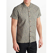 Buy JOHN LEWIS & Co. Multi Palm Print Short Sleeve Shirt, Natural Online at johnlewis.com