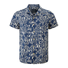 Buy JOHN LEWIS & Co. Aztec Print Short Sleeve Shirt, Indigo Online at johnlewis.com