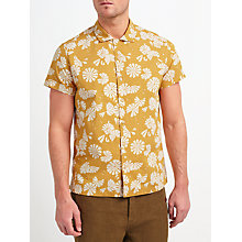 Buy JOHN LEWIS & Co. Printed Flower Short Sleeve Shirt, Gold Online at johnlewis.com