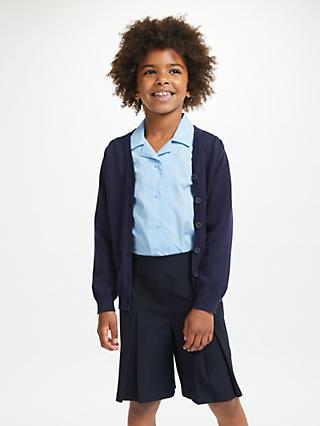 9e6195a9690 John Lewis   Partners Cotton Rich V-Neck School Cardigan