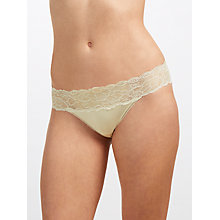Buy Calvin Klein Underwear Seductive Comfort Lace Bikini Briefs, Ivory Online at johnlewis.com